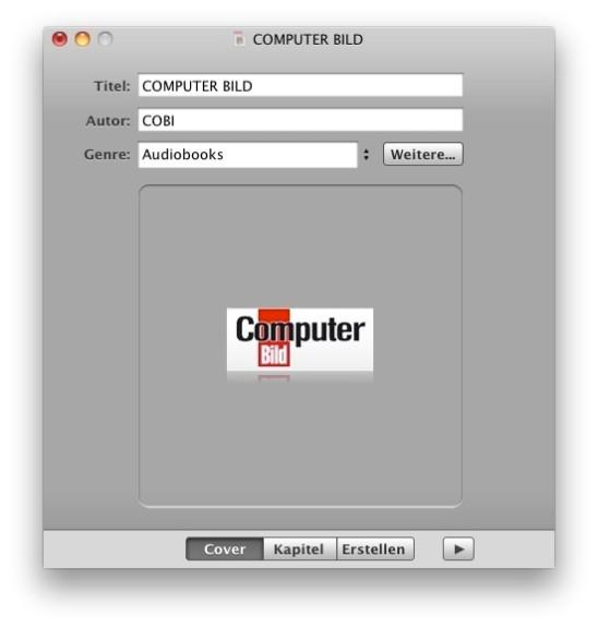 Screenshot 1 - Audiobook Builder (Mac)