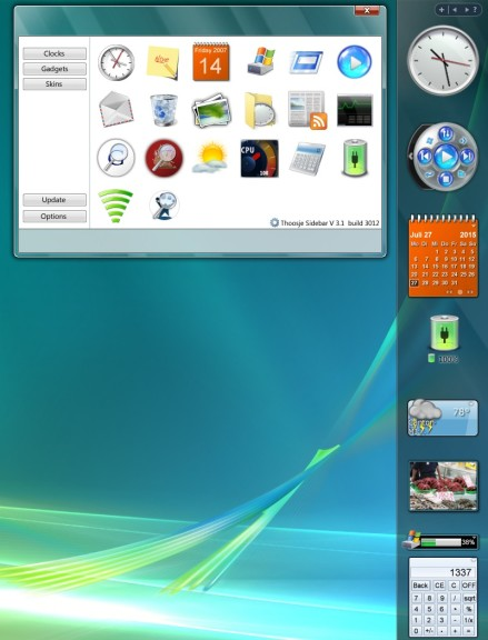 Screenshot 1 - Vista Sidebar