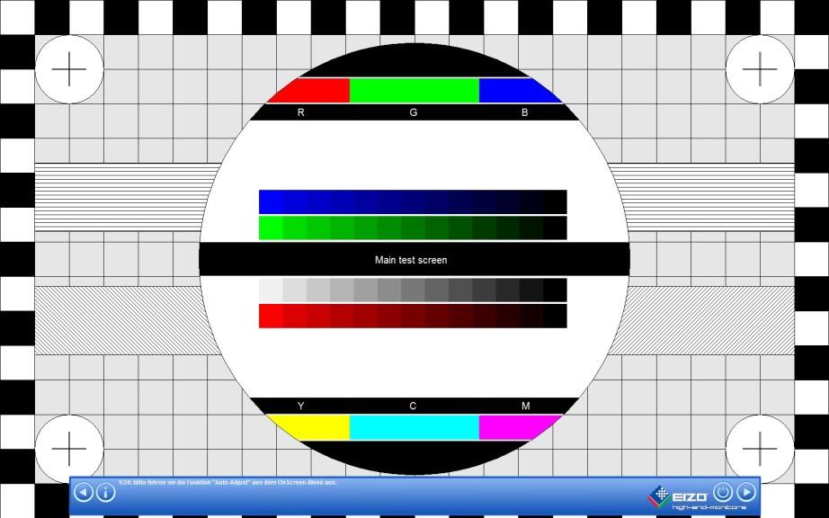 Screenshot 1 - EIZO Monitortest