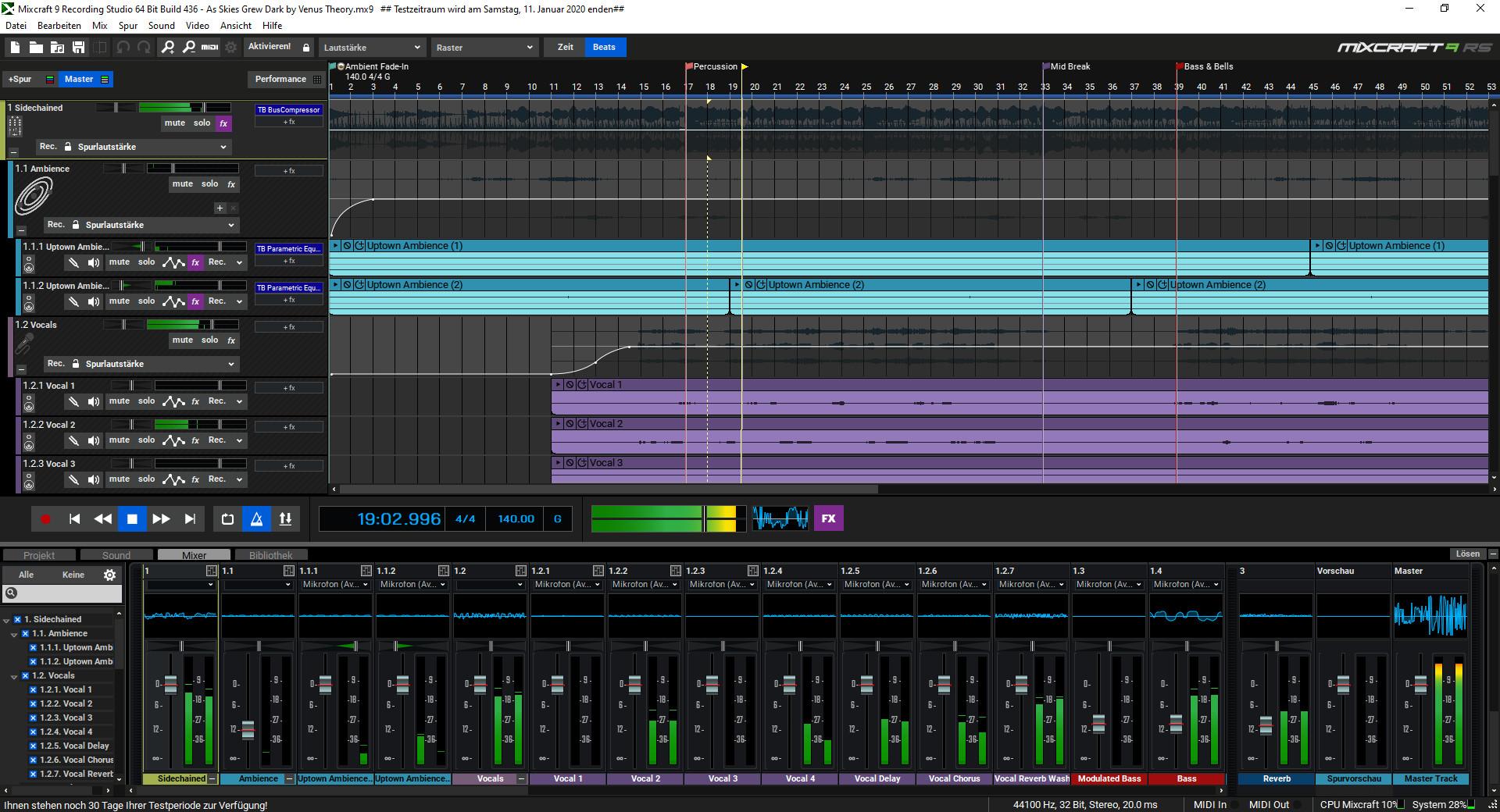 Screenshot 1 - Mixcraft Recording Studio