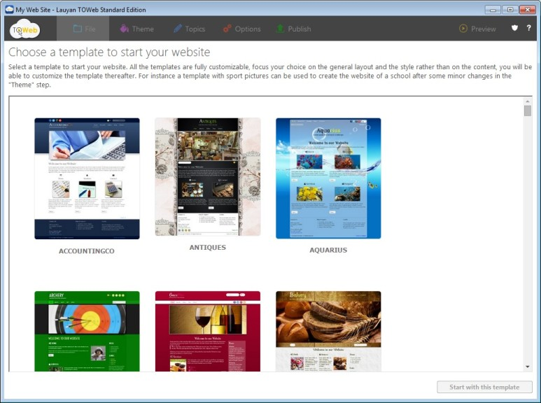 Screenshot 1 - TOWeb
