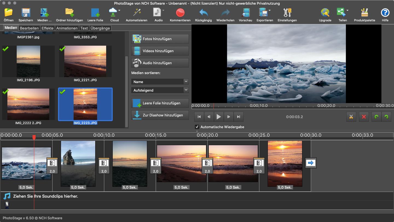 Screenshot 1 - PhotoStage (Mac)