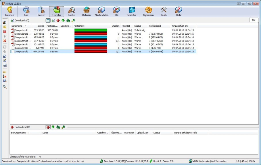 Screenshot 1 - eMule