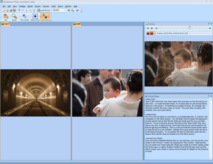Screenshot 1 - Morpheus Photo Animation Suite