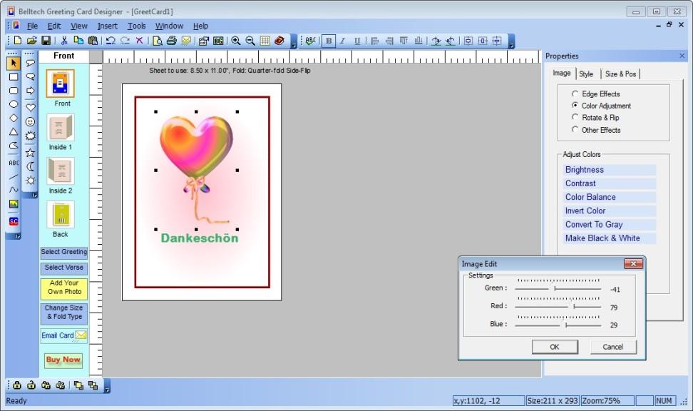 Screenshot 1 - Greeting Card Designer