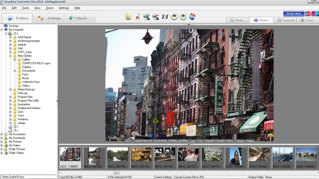 Screenshot 1 - Graphics Converter Pro 2013