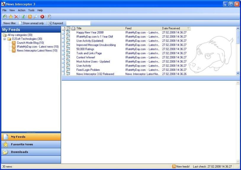 Screenshot 1 - News Interceptor