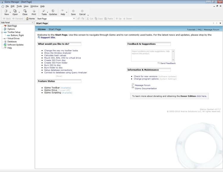 Screenshot 1 - Gizmo Central