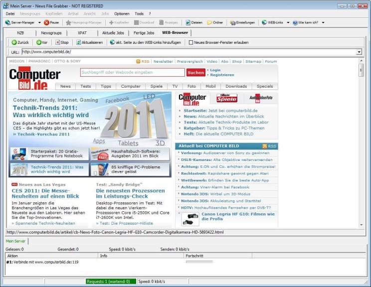 Screenshot 1 - News File Grabber