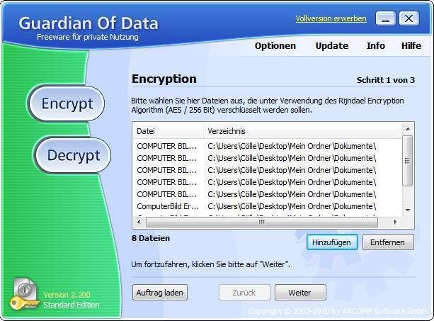 Screenshot 1 - Guardian Of Data