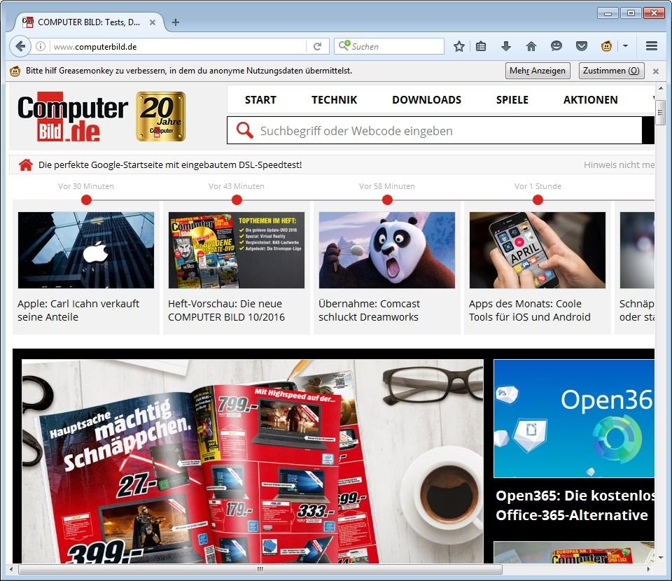 Screenshot 1 - Greasemonkey für Firefox