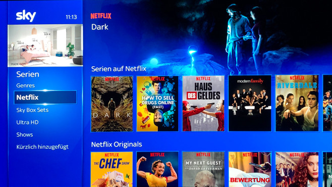 Sky Q: Netflix©COMPUTER BILD