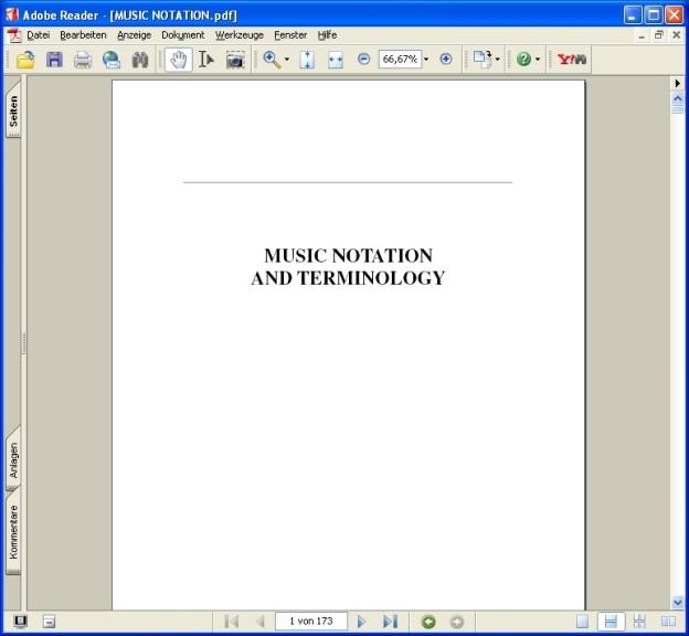 Screenshot 1 - Music Notation and Terminology Guide