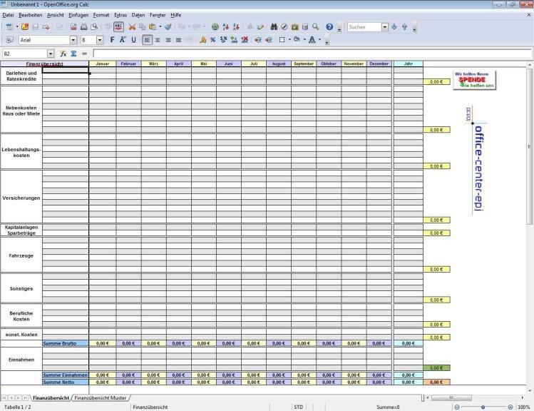 Screenshot 1 - OOOP-ML-Templates für OpenOffice.org