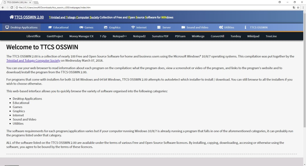 Screenshot 1 - TTCS Osswin DVD