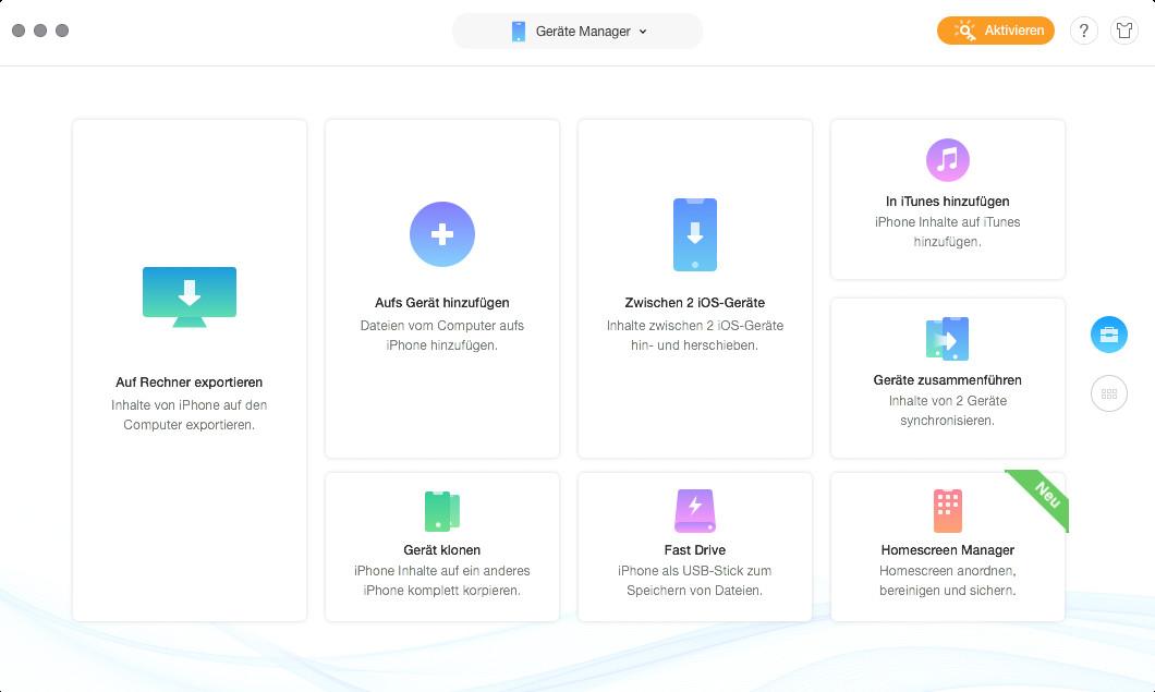 Screenshot 1 - AnyTrans iPhone Manager (Mac)