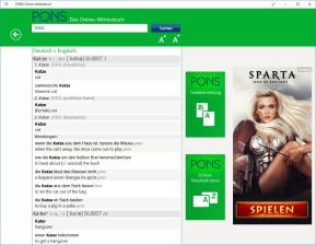 Pons Online-Wörterbuch (Windows-10-App)