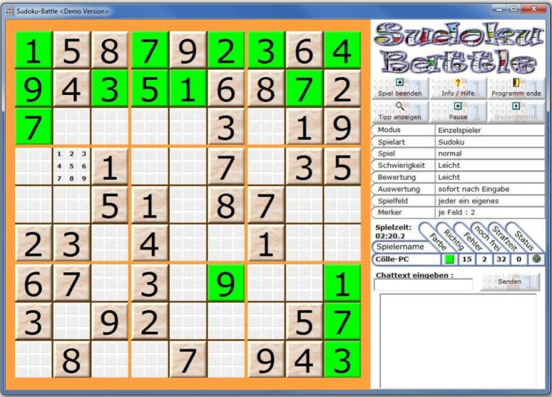 Screenshot 1 - Sudoku-Battle