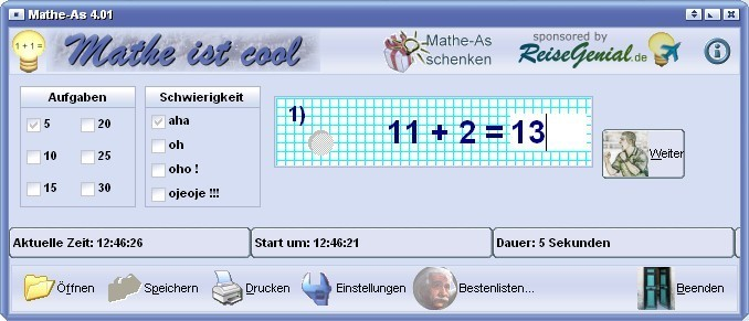 Screenshot 1 - Mathe-As