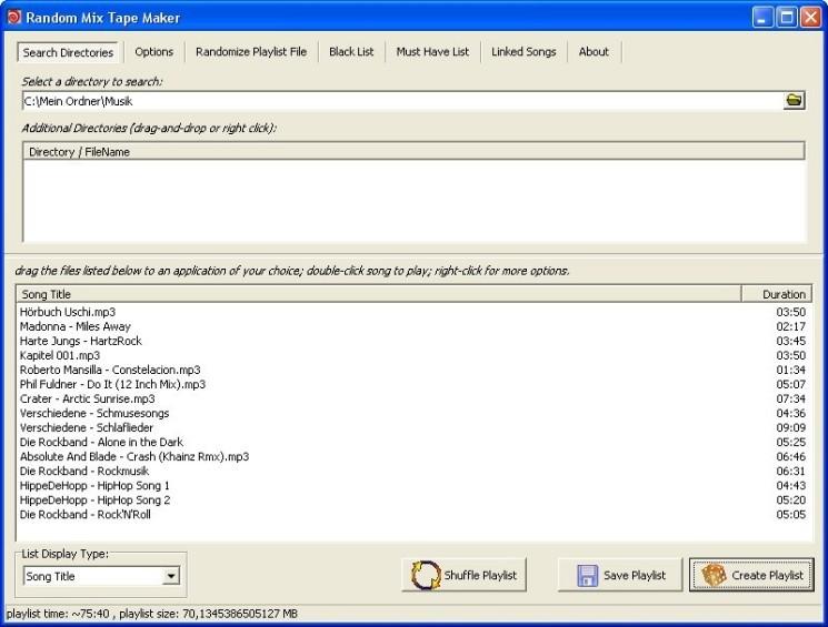 Screenshot 1 - Mixtape Maker