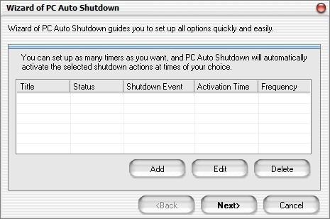 Screenshot 1 - PC Auto Shutdown