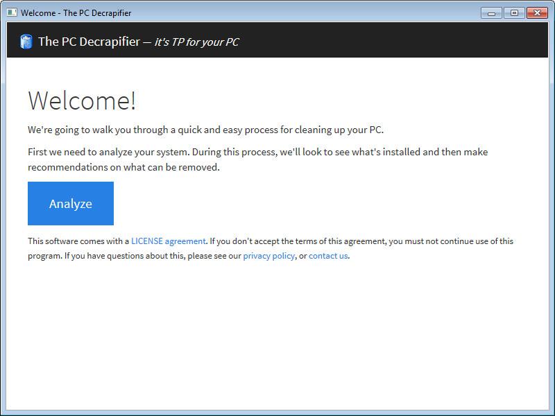 Screenshot 1 - PC Decrapifier