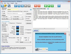 Advanced DHTML Popup Pro