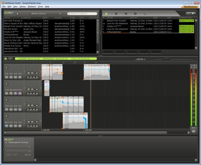 Screenshot 1 - MixMeister Studio