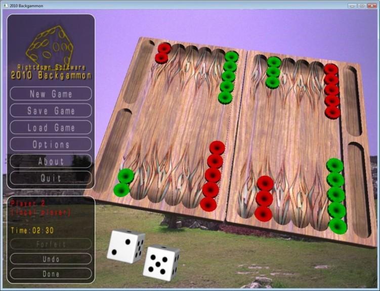 Screenshot 1 - 2010 Backgammon