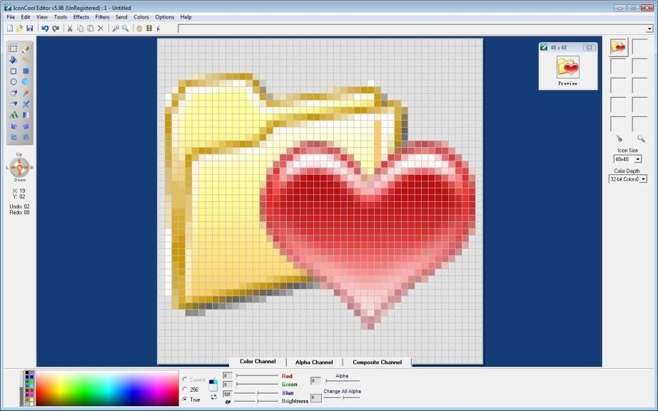 Screenshot 1 - IconCool Editor