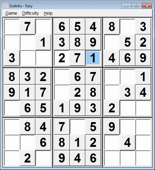 Screenshot 1 - Sudoku Portable