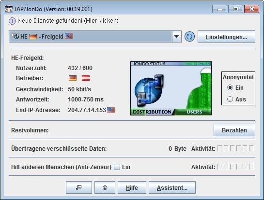 Screenshot 1 - JAP / JonDo