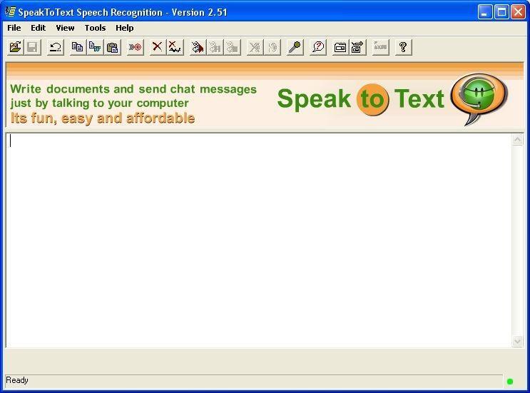 Screenshot 1 - SpeakToText