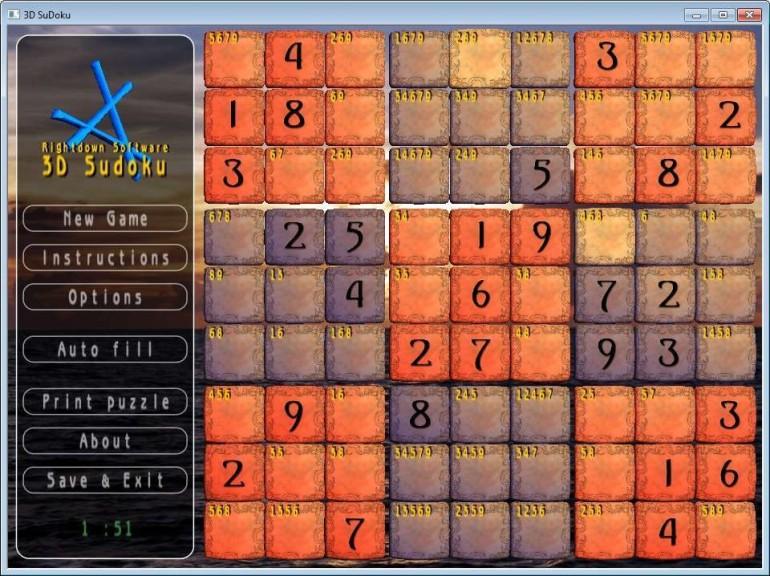 Screenshot 1 - 3D SuDoku
