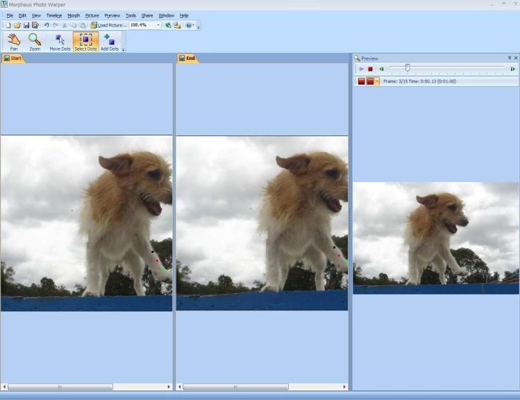Screenshot 1 - Morpheus Photo Warper