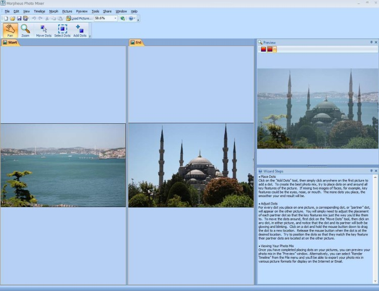 Screenshot 1 - Morpheus Photo Mixer