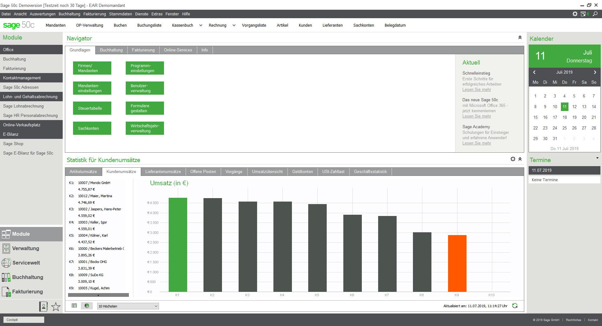 Screenshot 1 - Sage 50cloud