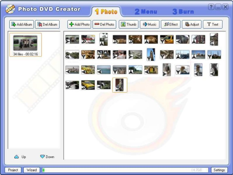 Screenshot 1 - Photo DVD Creator