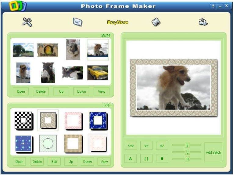 Screenshot 1 - Photo Frame Maker