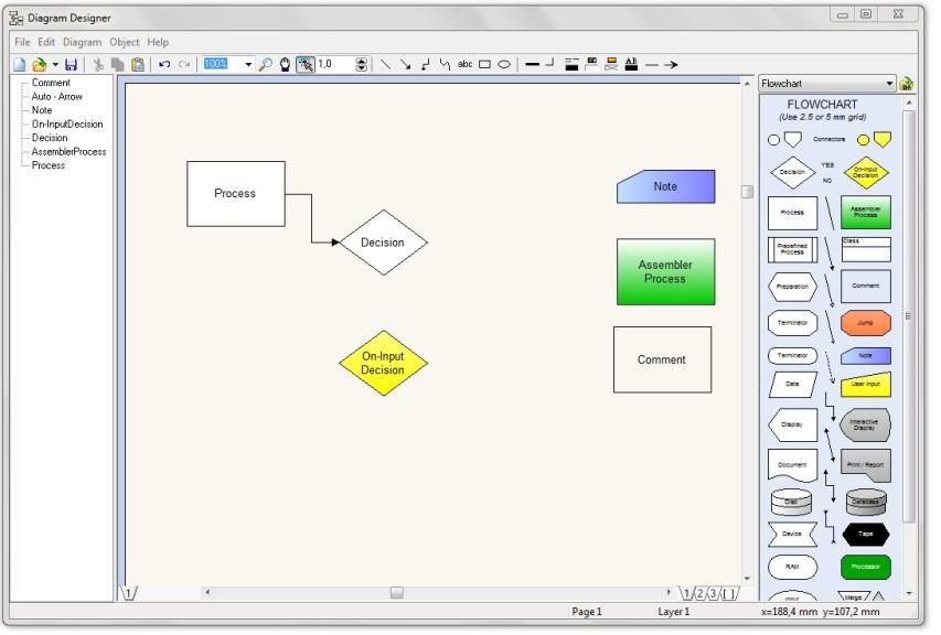 Screenshot 1 - Diagram Designer