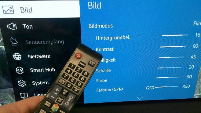Samsung UE40J6250 Menü©COMPUTER BILD