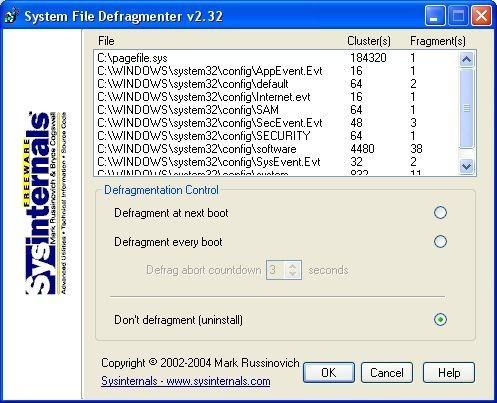 Screenshot 1 - PageDefrag