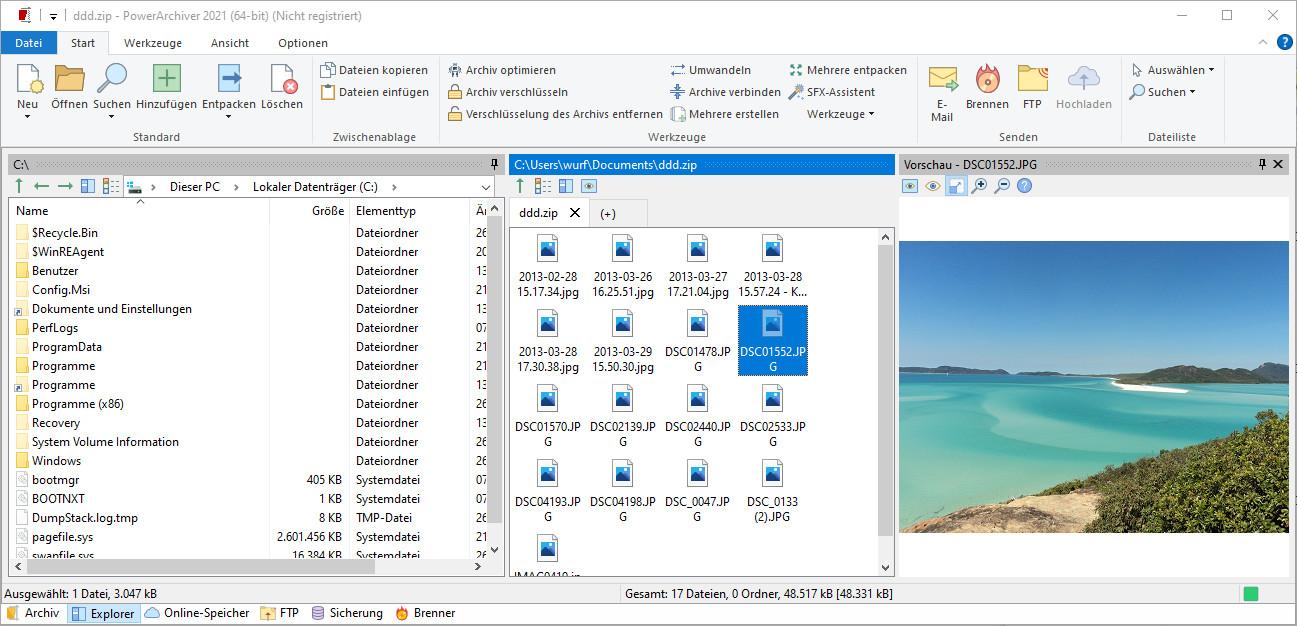 Screenshot 1 - PowerArchiver 2021