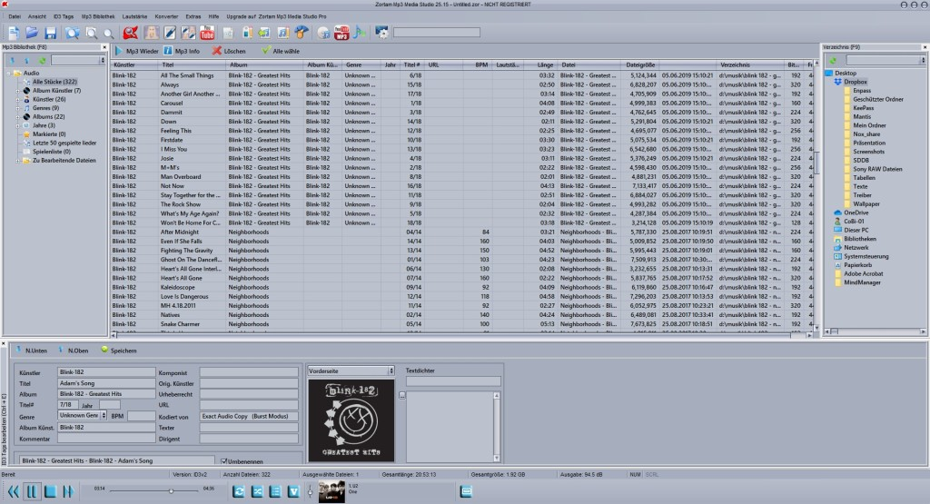 Screenshot 1 - Zortam Mp3 Media Studio