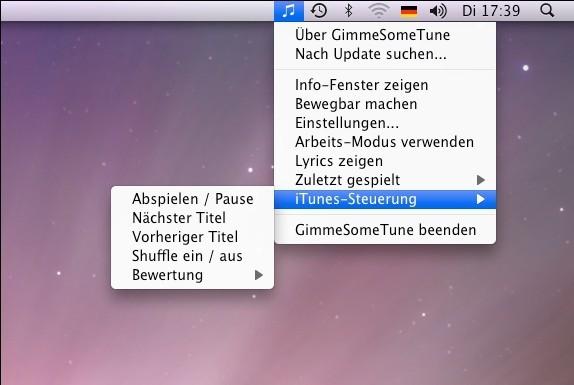 Screenshot 1 - GimmeSomeTune (Mac)