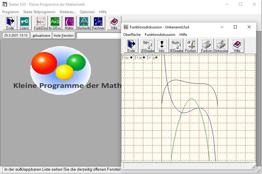 Screenshot 1 - Kleine Programme der Mathematik