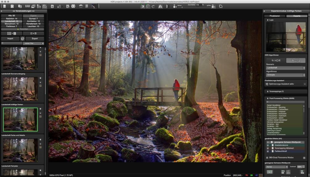 Screenshot 1 - HDR Projects 4 – Kostenlose Vollversion (Mac)