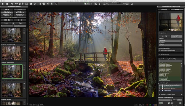 Screenshot 1 - HDR Projects Darkroom – Kostenlose Vollversion (Mac)