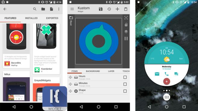 KWGT Kustom Widget Maker ©Kustom Industries
