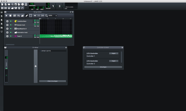Screenshot 1 - LMMS (Linux MultiMedia Studio) (Mac)